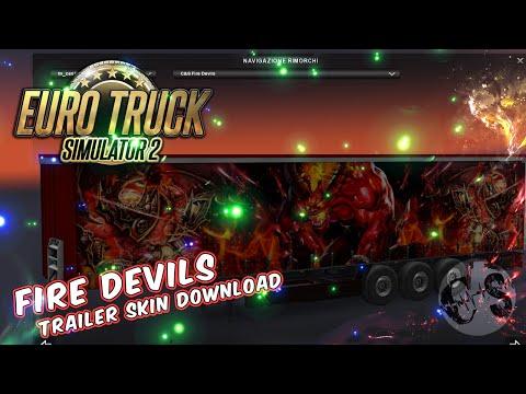 Volvo FH16 2013 – Fire Devils Skin + Trailer Standalone