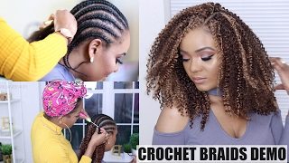 """Hey, babes! I'm back with another crochet braids tutorial. THUMBS UP for more videos like this :) Check out my other crochet braids tutorial videos and crochet braids playlists if you wanna know how to crochet braids like a Boss! Check out our no mirror makeup challenge 🤣 https://www.youtube.com/watch?v=CFO_GhGDL_k👑Subscribe to Omabelle: https://www.youtube.com/omabelletvWelcome to my channel! I'm Jodian aka JODI, and I share my creative ideas through TheBrilliantBeauty by uploading hair tutorials, makeup looks, and fashion videos. My hope is to inspire you to try something new and be confident in the process.//HAIR INFO//5 packs of curly crochet hairMambo Open Loop 4A Bohemian Braid 12""""Colors used: 27, 30, 33Similar here http://bit.ly/2l6puOy and here http://bit.ly/2l21RXLYou will also need:Crochet latch hookRat tail combMoisturizerHair clipsNeedle & thread for securing the braided baseRazor comb for layering (optional)Toppik hair building fibers (what I used for her edges)Dark brown http://bit.ly/2lBse3s w/ Spray applicator http://bit.ly/2lDhxOmVideo is not sponsored.--CHECK OUT MY PLAYLISTS:CROCHET BRAIDS http://bit.ly/2gGxn7HWIG TUTORIALS http://bit.ly/2ggWlOiDIY HAIR COLOR http://bit.ly/2gDkFdzKINKY STRAIGHT HAIRSTYLES http://bit.ly/1MmkRqs---⇣KEEP UP WITH MEINSTAGRAM: @thebrilliantbeautySNAPCHAT: brilliantb3autyTWITTER: @BrilliantJodianFACEBOOK: The Brilliant BeautyPINTEREST: The Brilliant Beauty--MY FILMING SETUP--Canon 80D http://amzn.to/2a3vnHQRing Light http://amzn.to/2arNbfA-- BIZ --For business inquiries only, I may be contacted at thebrilliantbeautybiz@gmail.com"""