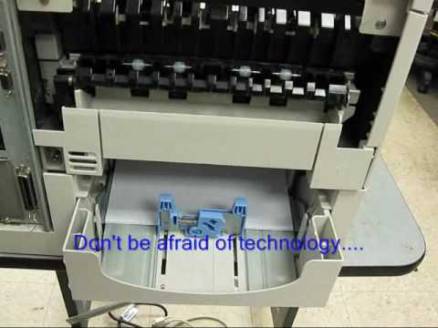 Replacing fuser maintenance kit in the HP LaserJet 4000 4050 4000t 4000tn