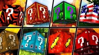 16-IN-1 LUCKY BLOCK MOD CHALLENGE (MEGA DEATH MINIGAME) | Minecraft - Lucky Block Mod