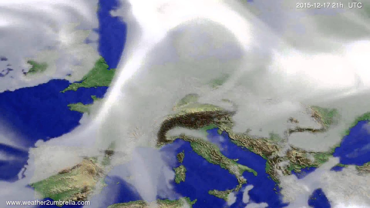 Cloud forecast Europe 2015-12-14