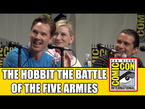 the hobbit - The Hobbit 3: Battle Of The Five Armies SDCC Official Comic Con Panel with Benedict Cumberbatch, Andy Serkis, Evangeline Lilly, Cate Blanchet, Orlando Bloom,...