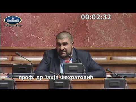 Dr. Jahja Fehratović u Skupštini Srbije o zakonima iz oblasti obrazovanja