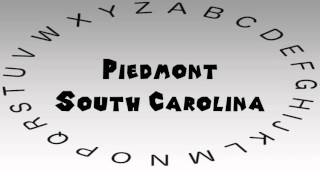 Piedmont (SC) United States  City new picture : How to Say or Pronounce USA Cities — Piedmont, South Carolina