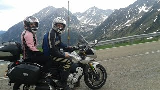 Pirineo Catalan Spain  city photo : VIAJE/RUTA EN MOTO por el pirineo | con una Yamaha FZ1