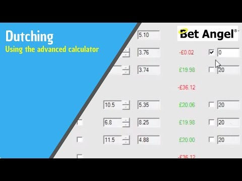 Using Bet Angel's advanced dutching module