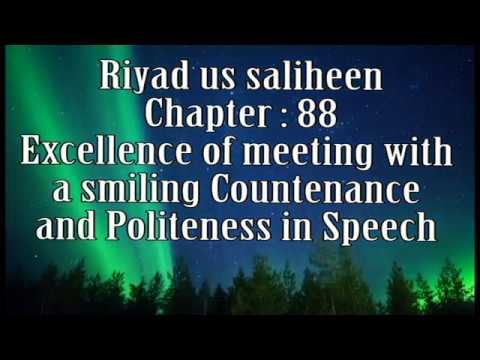 Riyadus Saliheen Chapter 88 : Meeting with a smiling Countenance and Politeness in Speech (English)