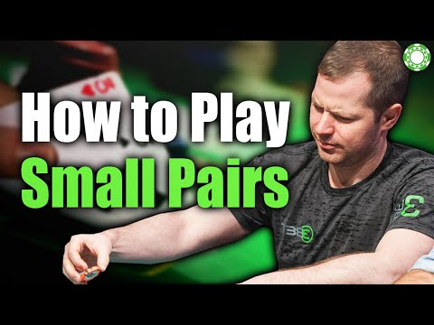 How to Play Small Pairs at All Stack Depths - A Little Coffee with Jonathan Little, 9/23/2020