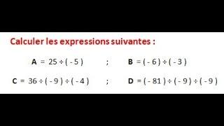 Maths 5ème - Les nombres relatifs repérage Exercice 5