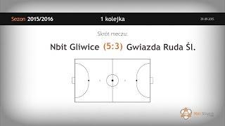 Skrót meczu Nbit Gliwice - Gwiazda Ruda Śląska (1 kolejka)