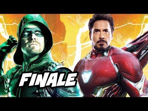 Arrow Season 6 Episode 23 Finale - Iron Man Scene and Easter Eggs Explained (видео)