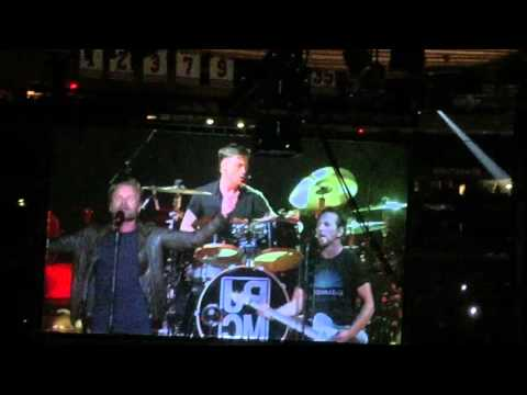 Pearl Jam performs