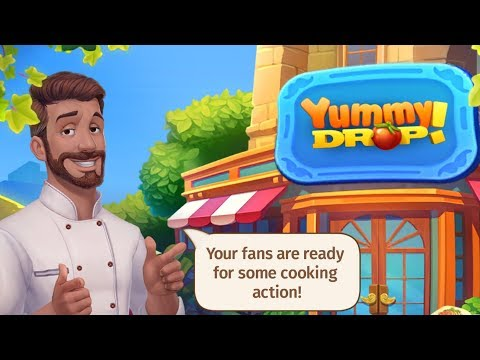 YUMMY DROP Android / IOS Gameplay Trailer | Match 3 And Cooking Game