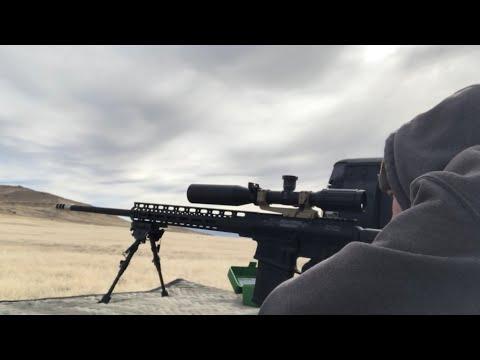 Uintah Precision 6.5 Creedmoor 500 & 1,000 Yards Shooting in Crazy Wind