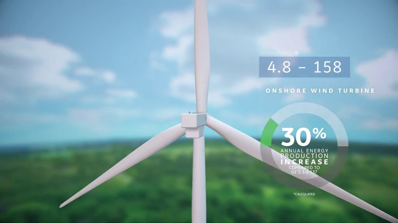 GE's 4.8 MW onshore wind turbine with 158m rotor diameter