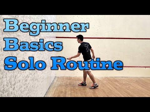 Squash - Beginner Basics Solo Routine