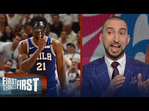 Nick Wright on Embiid's playoff debut in Philly, Talks Anthony Davis  FIRST THINGS FIRST