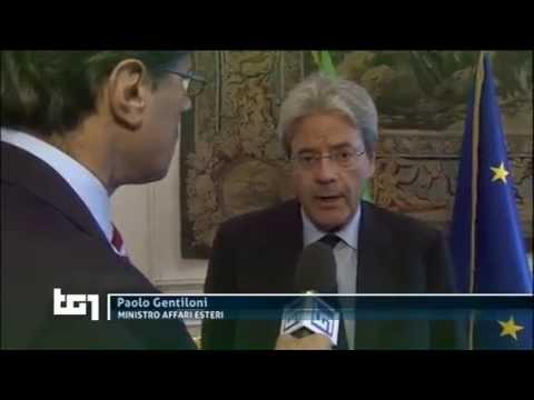 Il ministro Gentiloni al TG1: Maro', Isis, Ucraina