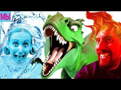 Новые Приключения Огонь и Вода Мы Играем Мультик про Динозавров Смешное Видео для Детей - DomaVideo.Ru