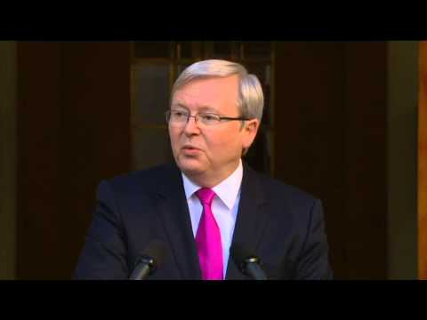 Election - Prime Minister Kevin Rudd announces a federal election will be held on September 7, and says Australians face a choice between positive plans for the future ...