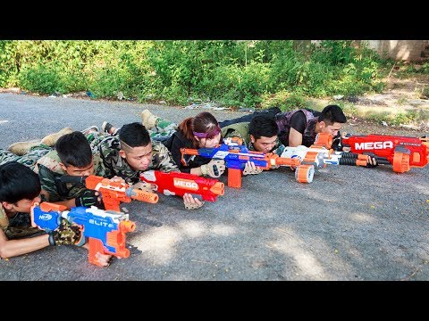 LTT Nerf War : SEAL X Warriors Nerf Guns Captain Fight Criminal Group Weapons Heavyweight