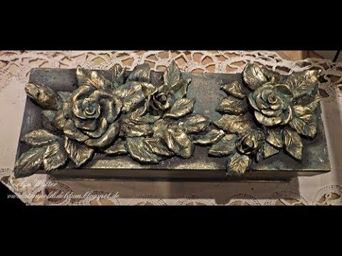 Roses freely shaped from modeling clay - Tutorial
