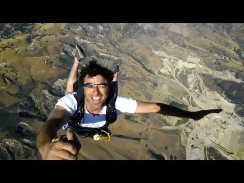 Google Project Glass   Skydiving Demo | Video