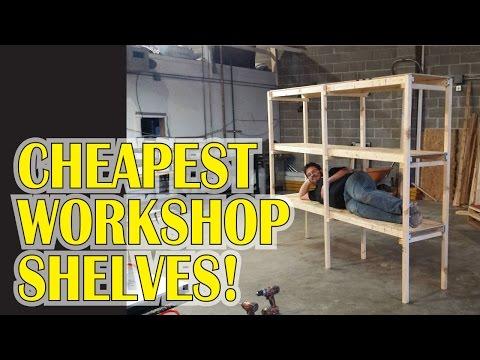 Garage Workshop Shelves for $20