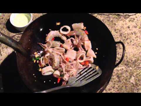 Pad Graprow seafood ผัดกะเพรา Thai food recipe #1