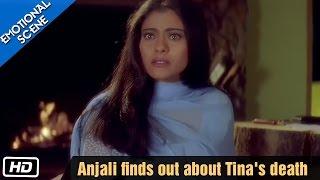 Anjali comes to know about Tina's Death - Kuch Kuch Hota Hai - Kajol, Shahrukh Khan