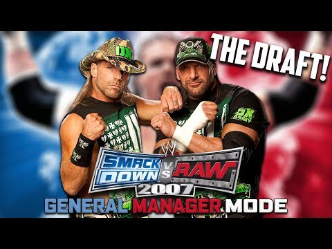 THE BEST GM MODE DRAFT OF ALL TIME! w/Phoenix Nitro WWE Smackdown vs Raw 2007 GM Mode