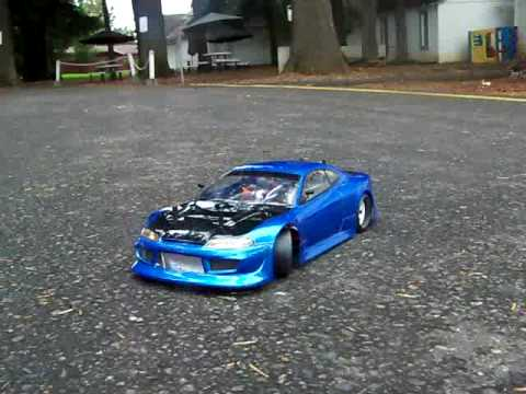 rc drift nissan silviya s15 and 350z silviya with bad motor