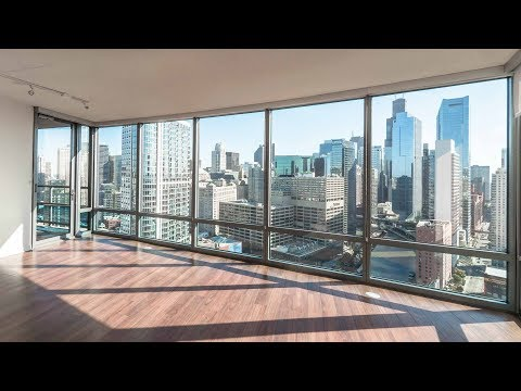 A skyline-view 2-bedroom, 2-bath at River North's Kingsbury Plaza apartments
