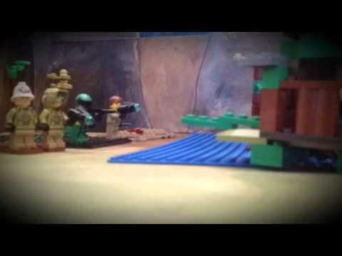 Lego Army War on The Water