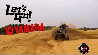 7. Chasing a Raptor 700 on my Yamaha YFZ450R