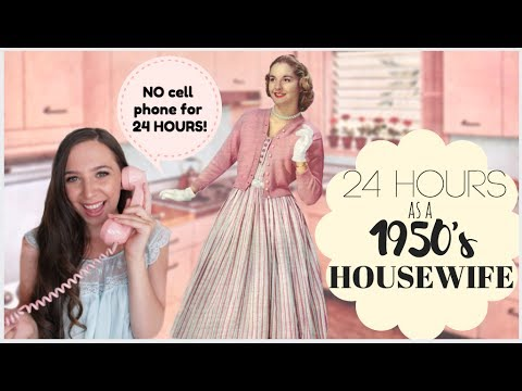 I Lived Like A 1950's HOUSEWIFE For 24 HOURS!