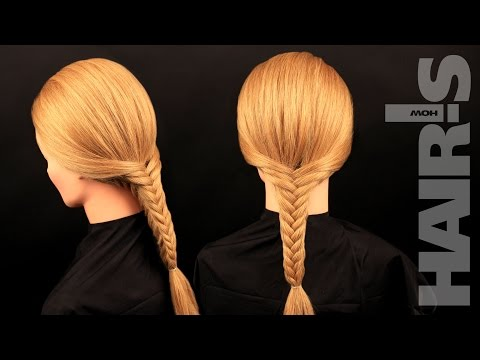 How to do a square fishtail braid hairstyle