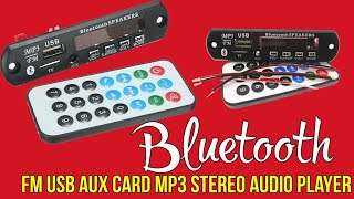 Bluetooth mp3 module with remort control |