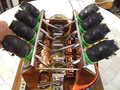 V8 solenoid engine