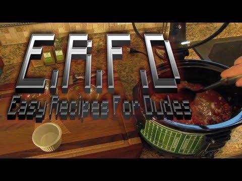 Easy Recipes For Dudes:  Venison Chili