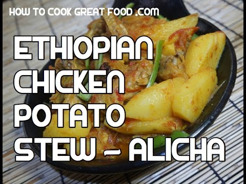 Ethiopian Mild Chicken & Potato Recipe - Doro be Dinich Alicha Amharic