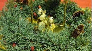 Праздничный декор из хвойных веток