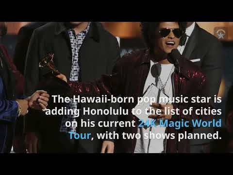 Bruno Mars planning possibly 2 shows in Honolulu