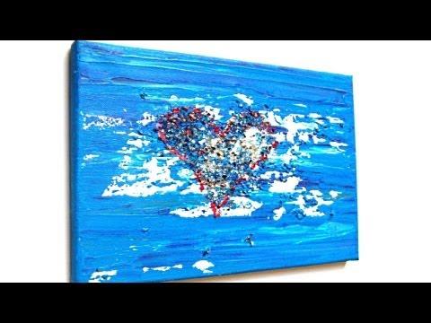 Herz, Acryl malen für Anfänger (Heart, acrylic painting for beginners)[HD]