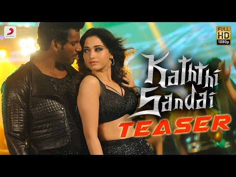 Kaththi Sandai - Official Tamil Teaser   Vishal, Vadivelu, Tamannaah   Hiphop Tamizha