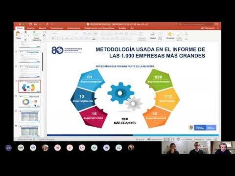 Presentación del informe de las 1.000 empresas más grandes en Colombia