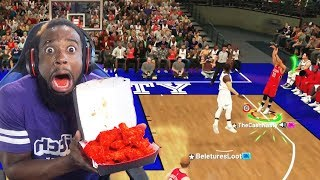 Every 3 Pointer Playoffs Stephen Curry Misses I Eat WORLDS HOTTEST WINGS! NBA 2K19