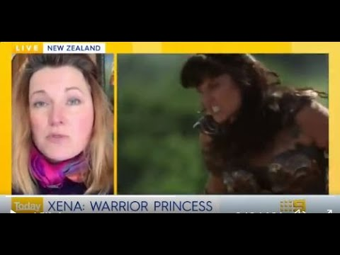 Xena Warrior Princess 25th Year Anniversary, Lucy Lawless interviewed on The Australian Today Show.