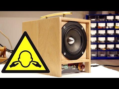 [Projekt] Mobile Aktivbox selbst gebaut. Portabler Lautsprecher mit Class D Verstärker