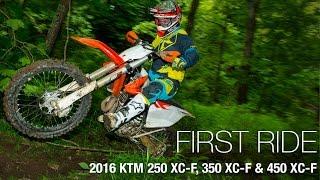10. 2016 KTM 250 XC-F, 350 XC-F & 450 XC-F First Rides - MotoUSA